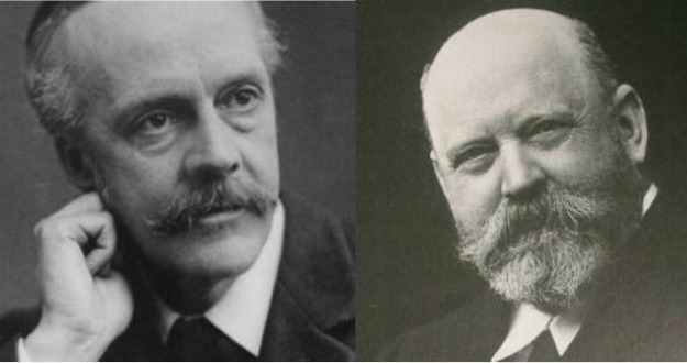 Arthur James Balfour e Lord Walter Rothschild