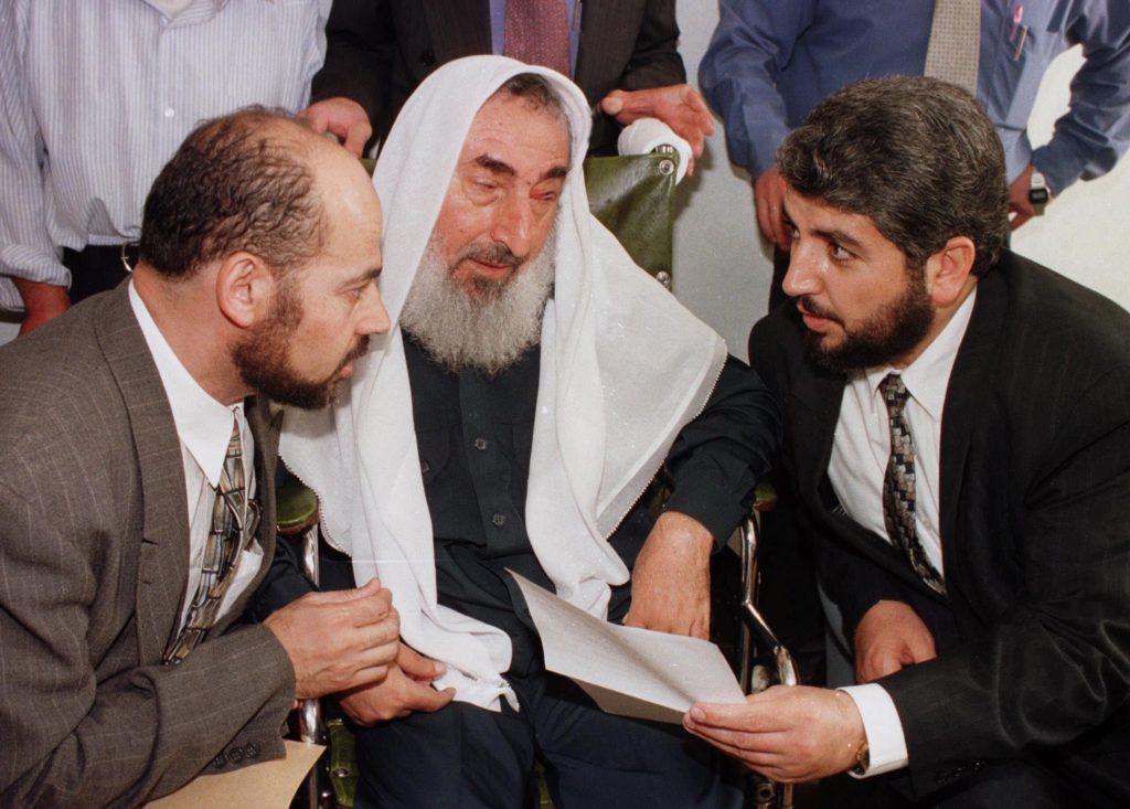 Ahmed Yassin e Khalid Meshaal in Giordania nel 1997