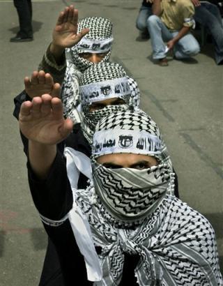 Palestinian Nazi Salute
