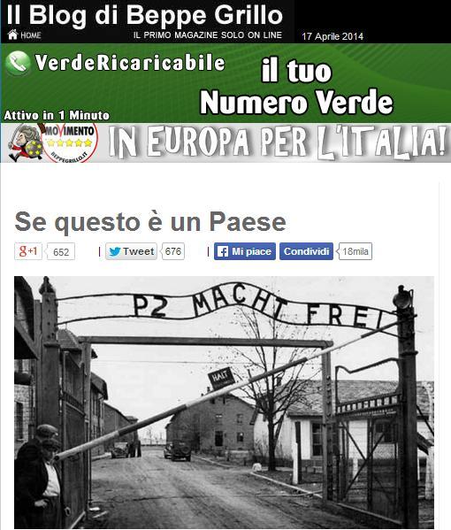 Grillo, Primo Levi, Auschwitz