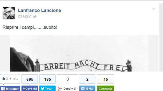 Lancione post antisemita
