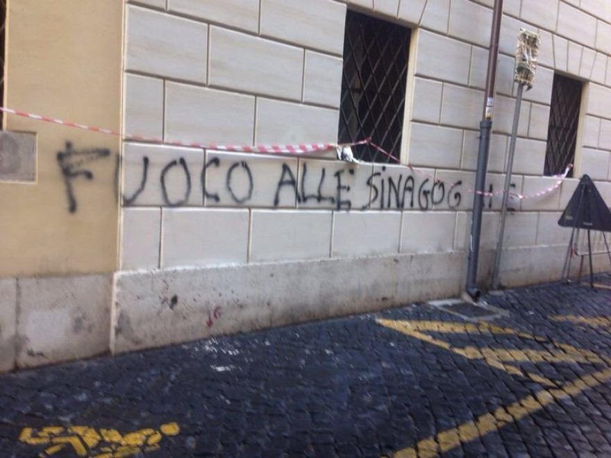scritte antisemite roma 2