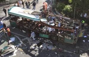 Attentato suicida su un bus di Gerusalemme nel Gennaio 2004