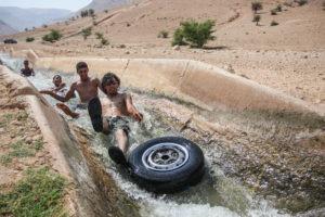 Canale di irrigazione a Gerico (West Bank)