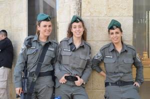 Polizia di frontiera israeliana. Foto scattata da Progetto Dreyfus lunedì 9 marzo 2015