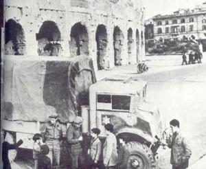 I soldati della Brigata Ebraica al Colosseo