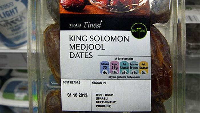 etichetta prodotti israeliani