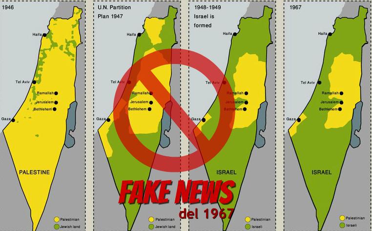 Cartina Israele E Palestina.La Mappa Della Palestina Un Falso Creato Dell Aic