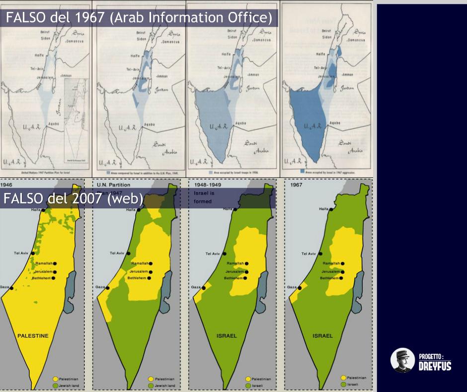 Israele Palestina Cartina.La Mappa Della Palestina Un Falso Creato Dell Aic Progetto Dreyfus