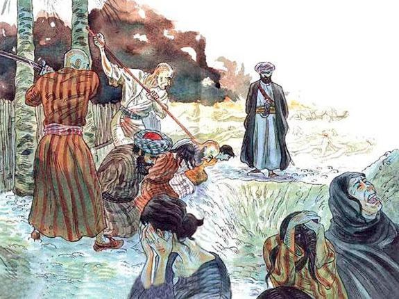 Muhammad the Prophet slaughters Banu Qurayza Jewish Tribe