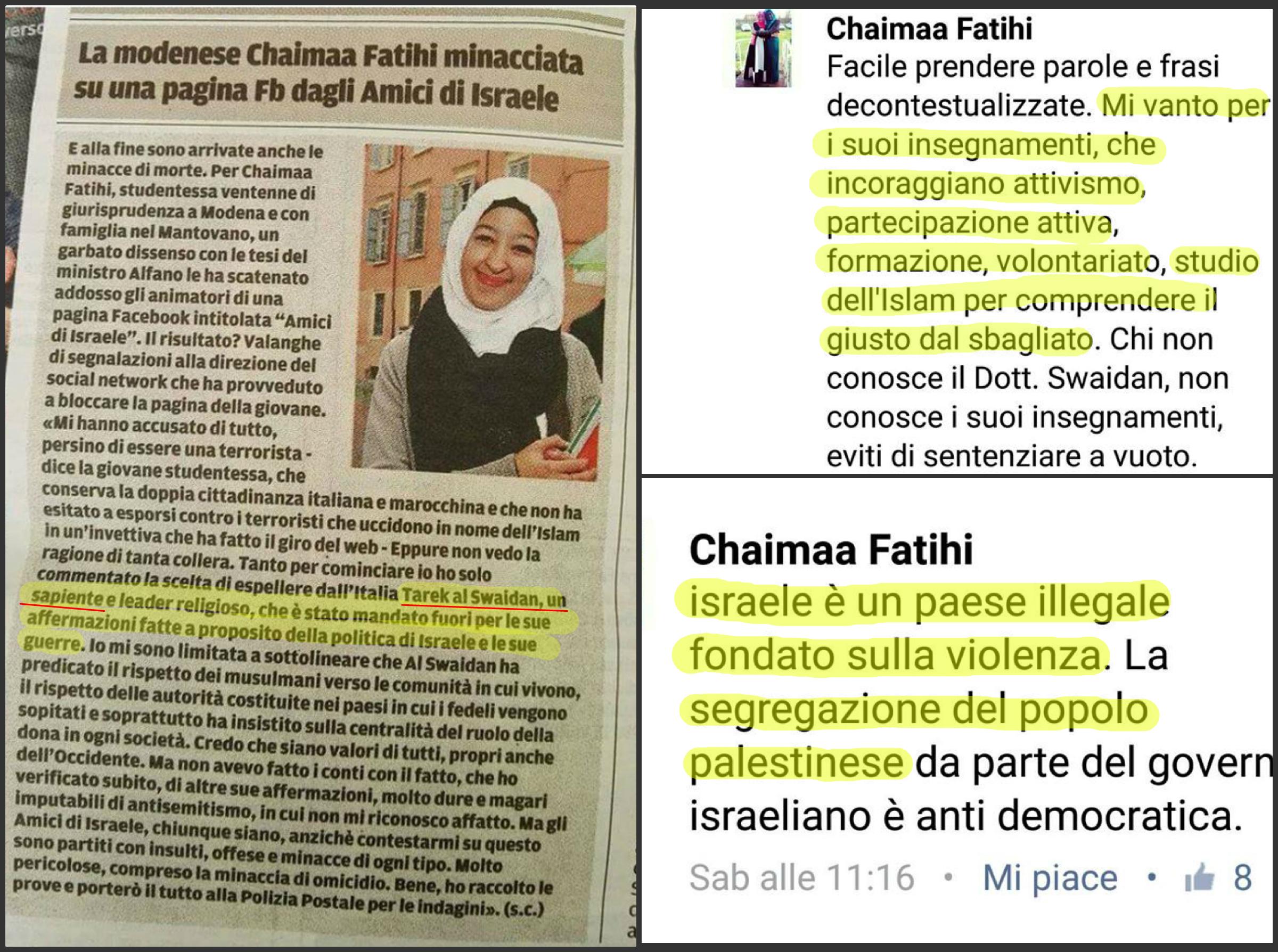 chaimaa fatihi dichiarazioni